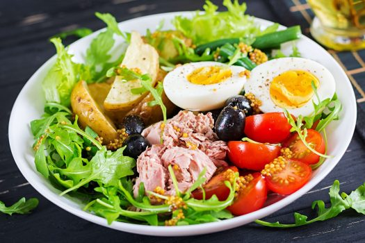 Salade œuf et thon